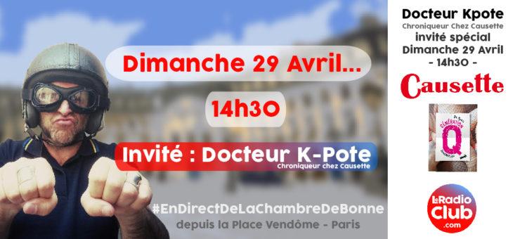 Nouvelle émission avec Docteur Kpote